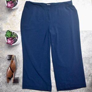 Avenue Stretch Wide Leg Cropped Pants